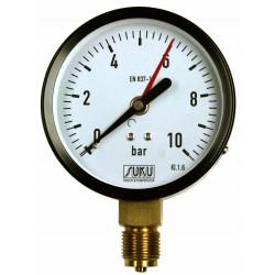 Typ 4451, Rohrfedermanometer NG100, Anschluss unten