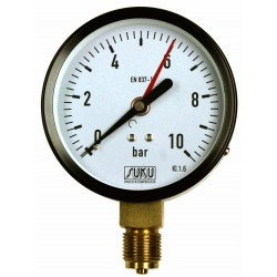 Type 4451, Bourdon tube pressure gauge NS100, connection bottom