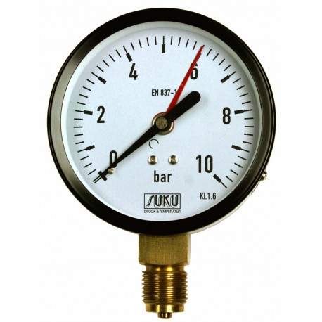 Type 4451, Bourdon tube pressure gauge NS100, connection bottom