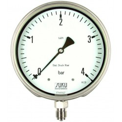 Type 5638, Differential pressure gauge NS160 with bourdon tube, all stainless steel