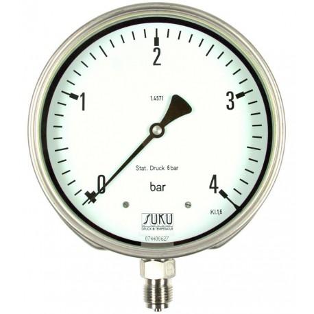 Typ 5638, Differenzdruckmanometer NG160 mit Rohrfeder, komplett Edelstahl