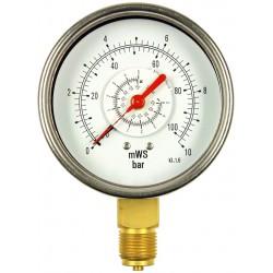 Typ 5630, Differenzdruckmanometer NG100 mit Rohrfeder