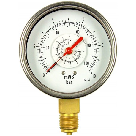 Type 5630, Differential pressure gauge NS100 with bourdon tube
