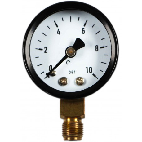Type 4101, Bourdon tube pressure gauge NS40, connection bottom