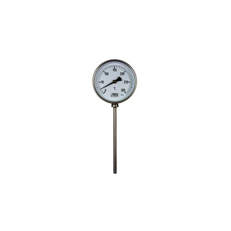 Type 03 Bimetal-Pointer-Thermometer, all stainless steel, connection bottom