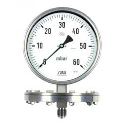 Typ 6321, Plattenfedermanometer NG160, komplett Edelstahl