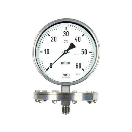 Type 6321, Pressure gauge with diaphragm NS160, all stainless steel