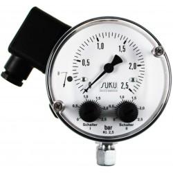 Typ 5591, Differenzdruckmanometer NG100 mit Druckfeder, Membrandichtung