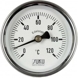 Type 09 Clinging-Bimetal-Thermometer NS63, case stainless steel