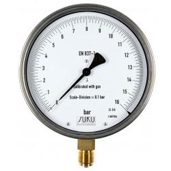 Typ 8751, Feinmessmanometer NG160, Anschluss unten