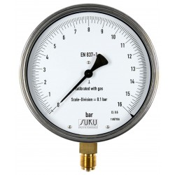 Type 8751, Precision test gauge NS160, connection bottom