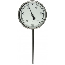 Type 31 Precision-thermometer NS100, all stainless steel, rigid connection bottom