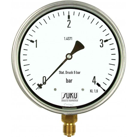 Type 5637, Differential pressure gauge NS160, with bourdon tube