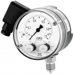 Type 6511 Contact pressure gauge ND 100 for heavy measuring conditionswith diaphragm, NS100, case stainless steel
