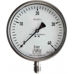 Type 6316, Bourdon tube pressure gauge NS160, chemical execution, fillable