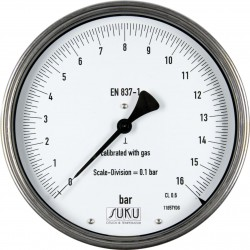 Typ 8771, Feinmessmanometer NG160, Anschluss hinten
