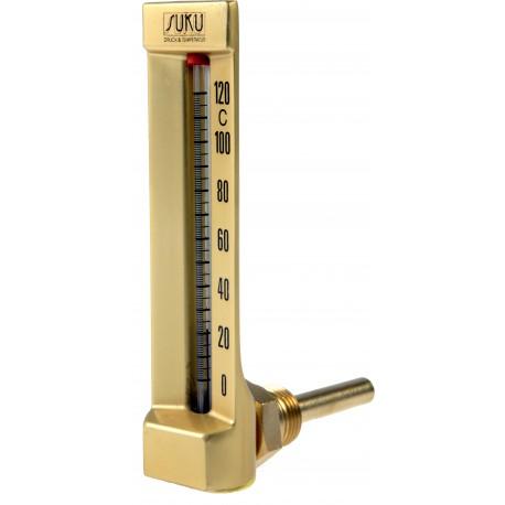 Typ 24, Maschinenthermometer, Winkel 90°, Bauhöhe 110x30