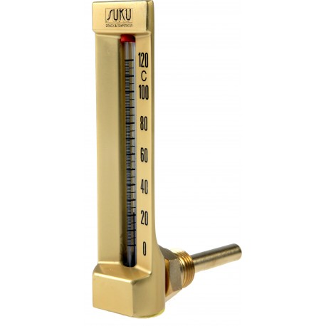 Type 24 Industrial thermometer, angle 90°, Body 110x30 mm