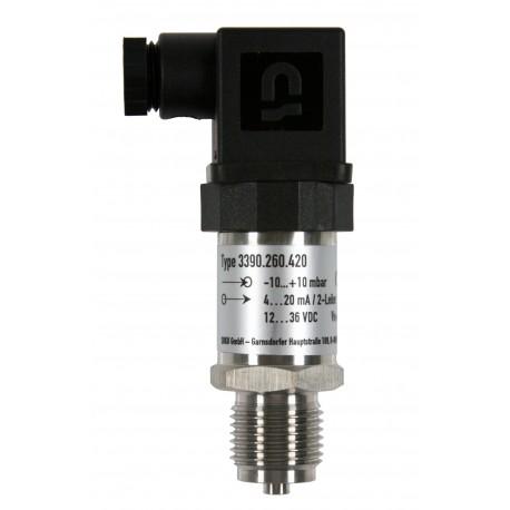 Type 3395 HEIM-Pressure sensor with internal diaphragm for lower pressure, 0-10 VDC