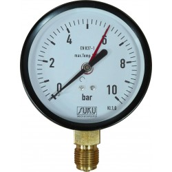 Type 5321, Bourdon tube pressure gauge NS100, connection bottom