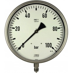 Type 6330 Bourdon tube pressure gauge NS250, all stainless steel, connection bottom