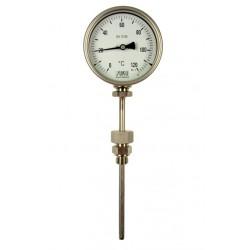 Typ B12, Bimetall-Zeiger-Thermometer, mit Bajonettring, Anschluss unten