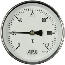 Typ 01, Bimetall-Zeiger-Thermometer, Stahl, Anschluss hinten