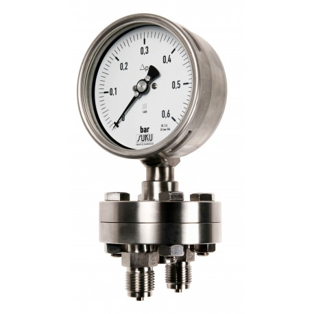 Type 5595 Differential pressure gauge NS100, all stainless steel