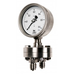 Type 5596 Differential pressure gauge NS160, all stainless steel