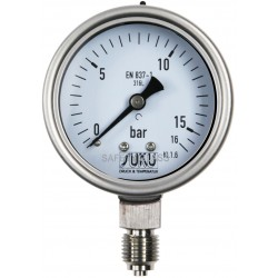 Typ 6035, Rohrfedermanometer NG63, Chemieausführung, füllfähig, Anschluss unten, LOW-COST