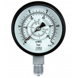 Type 5632 Differential pressure gauge NS100, with bourdon tube