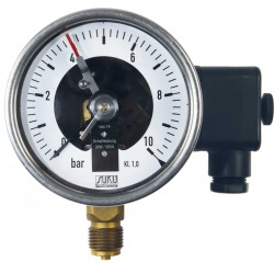 Type 6001, Contact pressure gauge NS100, connection bottom
