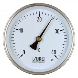 Type 10 Bimetal-Pointer-Thermometer, all stainless steel, connection back