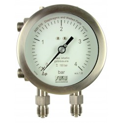 Type 5670, Differential pressure gauge NS100 with diaphragm, all stainless steel