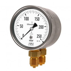 Type 5905 Differential pressure gauge with capsule element NG100 with thread connection